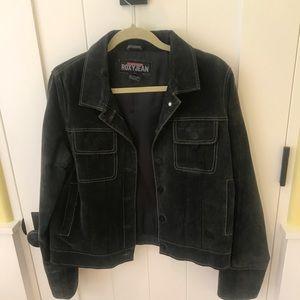 Vintage 90s RoxyQuicksilver Genuine Leather Jacket